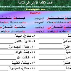 اللغة العربية/LUGHAH/BAHASA: Pelajaran 5: Mudhof dan Mudhofun Ilaih: Soalan Latihan 2