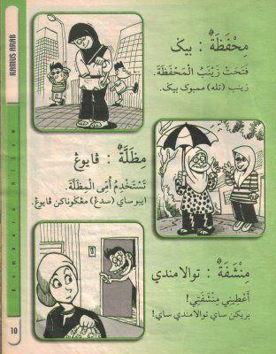 beg payung tuala dalam Bahasa Arab
