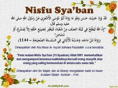 Hadis Hasan Tentang Nisfu Syaaban