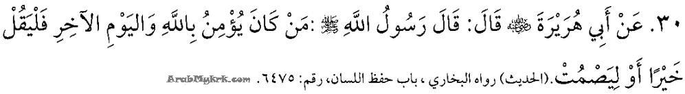 Pengucapan awam dari kacamata Islam - Hadis Bercakap Yang Baik-baik Atau Diam Saja